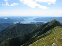 Panorama dallo Zeda - Il Lago Maggiore ed il territorio del varesotto con il Lago di varese, il Lago di Ternate ed il Lago di Comabbio