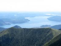 Panorama sul Lago Maggiore dalla cima del Monte Zeda