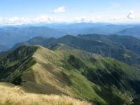 Panorama dallo Zeda - Rilievi della Valle Intragna (Bavarione, Spalavera, Vadà) e panoramica del percorso compiuto