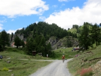 Arrivo alla Madonna del Lago Nero