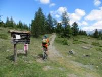 Il sentiero per Sagnalonga che parte dalla Capanna Mautino