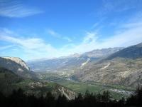 La piana del Vallese tra Turtmann e Leuk