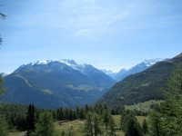 Mischabel (sx), Monte Rosa (Breithorn e Piccolo Cervino - centro), Weisshorn (dx - 4.506)