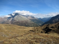 Panorama dal Bistinepass - L'area del Sempione, sullo sfondo i ghiacciai del Breithorn e del Monte Leone