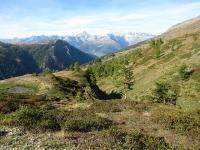 Nanztal - Panorama lungo il sentiero di discesa per l'alpeggio di Mattwe