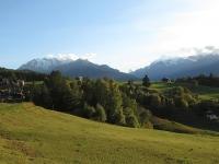 Rientro in tardo pomeriggio a Visperterminen - Ottimi panorami su Mischabel (sx) e Weisshorn (dx)