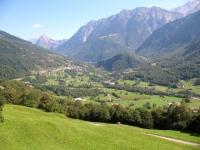 Val di Blenio, il Sosto al centro e la Cima di Pinadee a destra