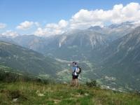 Panorama sulla Valle di Blenio dall'Alpe del Gualdo