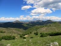 Panoramica dalla vetta del Monte Pracaban sul territorio del Parco delle Capanne di Marcarolo