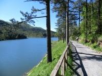 Lago Bruno, strada di sterrata di servizio