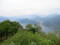 Panorama su Lago Ceresio e Luganese da Sasso Paradiso (tempo inclemente!)