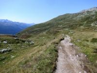 Il sentiero che sale al Grimselpass