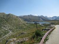 Panoramica sul Grimselpass salendo al Oberaarsee