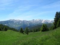 Pian Curnicc - panorama a sud - Punta di Larescia (2.195), Pizzo di Campello (2.660), Pizzo d'Era (2.618), Cima di Gana Rossa (2.565)