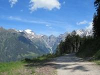Forestale che sale alla Capanna Gorda - panorama sull'Adula