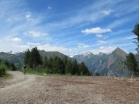 Forestale che sale alla Capanna Gorda - panorama - sulla destra il Sosto
