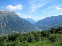 Panorama sulla val di Blenio dalla forestale che sale alla Capanna Gorda