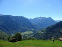 Panorama Val di Blenio da Simöu