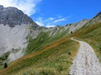 In direzione del Passo della Mulattiera