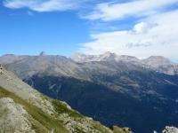 Vista sullo Jafferau (e dietro la Punta Sommelier) dal Passo