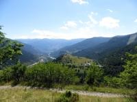 Salita al colle Colomion, vista su Puys e l'Alta Val di Susa