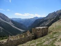 Baraccamenti militari sovrastanti il Col des Acles