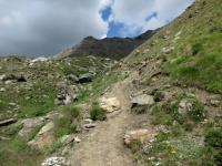 Sentiero che porta al Passo Invergneux - tratto pedalabile