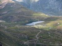 Lac Ponton (in basso a sinistra l'attacco del sentiero per il Passo Invergneux)
