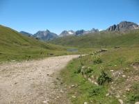 Panorama su Corni di Nefelgiù e gruppo del Ban dal Passo San Giacomo