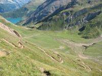 Sentiero di discesa verso la Baettelmatt Alp