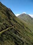 Single track In direzione della capanna Corno Gries