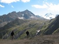 Passo del Gries, sullo sfondo la Punta del Sabbione con il ghiacciaio