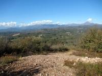 Sulle Rive Rosse in discesa verso San Martino - Panorama sui rilievi Biellesi