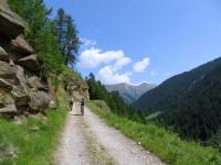 Inizio ascesa al Saflischpass, in direzione di Grummela e Rufibort