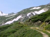 Salita al Saflischpass in direzione di Bruneggen