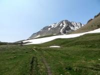 Ascesa al Saflischpass, trail