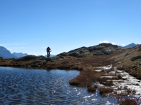Laghetto Alpino in direzione del Passo del San Bernardino