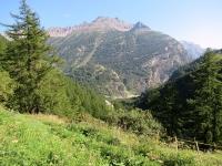 Le gole di Gondo - Sullo sfondo la catena montuosa Chesselhorn, Chellihorn, Rothorn