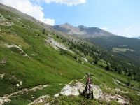 Panoramaweg  - Uno dei tratti non ciclabile e più faticosi da percorrersi con bici in spalla