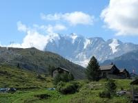 Rundweg Bergalpe - Bella vista sull'imponente Fletschhorn