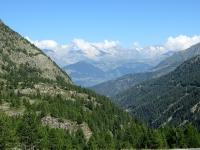 Panorama sull'altipiano dell'Aletsch percorrendo il Rundweg Bergalpe