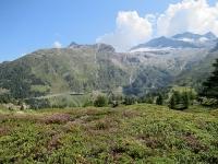 Rundweg Bergalpe - Vista sui ghiacciai del Monte Leone e del Breithorn