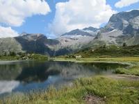 Hopschusee - Sullo fondo i ghiacciai del Monte Leone