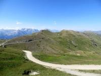 Panoramica sul Colle Basset e sul traverso proveniente dal Colle Bourget