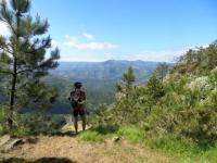 Panorama su un tratto della valle Stura