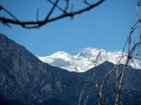 Le punte del Monte Rosa dalla Cima Frascheja (al centro il Rifugio Capanna  Margherita)