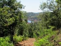 Da Sostegno verso il Dosso di San Bernardo - Al centro appare uno scorcio del Lago di Ravasanella