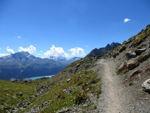 Sentiero che porta al Passo Suvretta