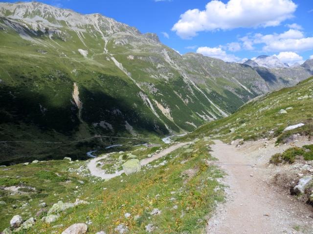 Parte finale del trail di discesa in Val Suvretta