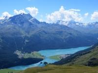 Lago di Silvaplana  - panorama da Munt da San Murezzan